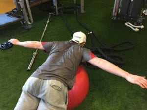 Figure 8 Prone Physioball T